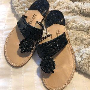 Palm Beach Sandal Co. Black Patent Leather Sandals